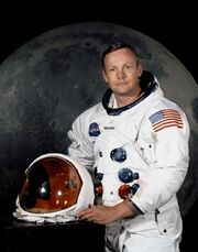 Neil Armstrong pose