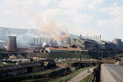 Ebbw Vale Steel Works in 1969 - geograph.org.uk - 341363