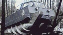Russian ALL TERRAIN military vehicle drives on snow swamp mud water and land better than 4WD