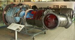 Aircraft engine RR Pegasus cut-out RH