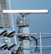 Radar antennas on USS Theodore Roosevelt SPS-64