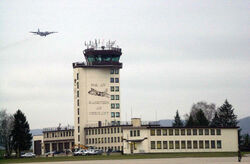 C-130 and Ramstein AB Control Tower