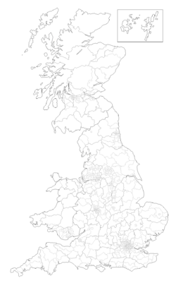 UK Election 1950's constituency map