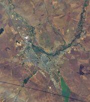 Aktobe (Kazakhstan), satellite image 2017-09-07