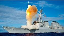 US hits Syria's Assad regime base with Tomahawk missiles by USS Porter Destroyer