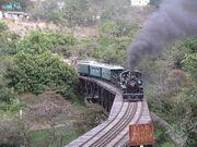 Tourist train at Alto Mire Olga