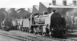 Bricklayers Arms Locomotive Depot, with SR 2-6-0 geograph-2654462-by-Ben-Brooksbank