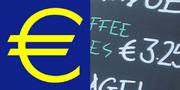 Euro logo plus character