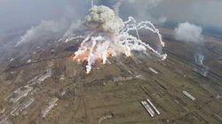 Multiexplosionen in Balakleja. 150.000 Tonnen Munition, Raketen brennen immer noch