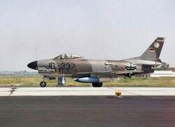 German F-86K JG 74 on runway 1965