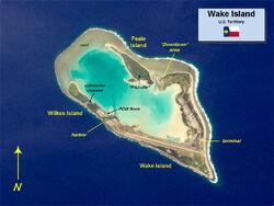 Wake Island NASA photo map
