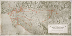 Relief map Pacific Electric Railway (1)