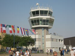 Batajnica Air Base control tower during Batajnica Airshow, 2012