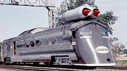 Crazy JET ENGINE POWERED Train M 497 unveiled in 1966 in New York United States