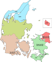 Invasion occupatin of Denmark regions.