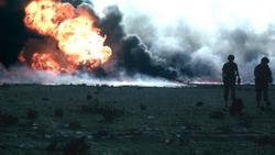 Kuwait burn oilfield