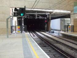 Farringdon station Thameslink southward extension look south2