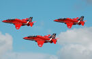 RAF Red Arrows depart RIAT Fairford 14thJuly2014 arp