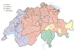 Karte Schweizer Sprachgebiete 2017