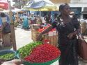 A market scene in Ghana