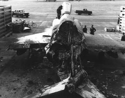 Destroyed US RF-4C Phantom II