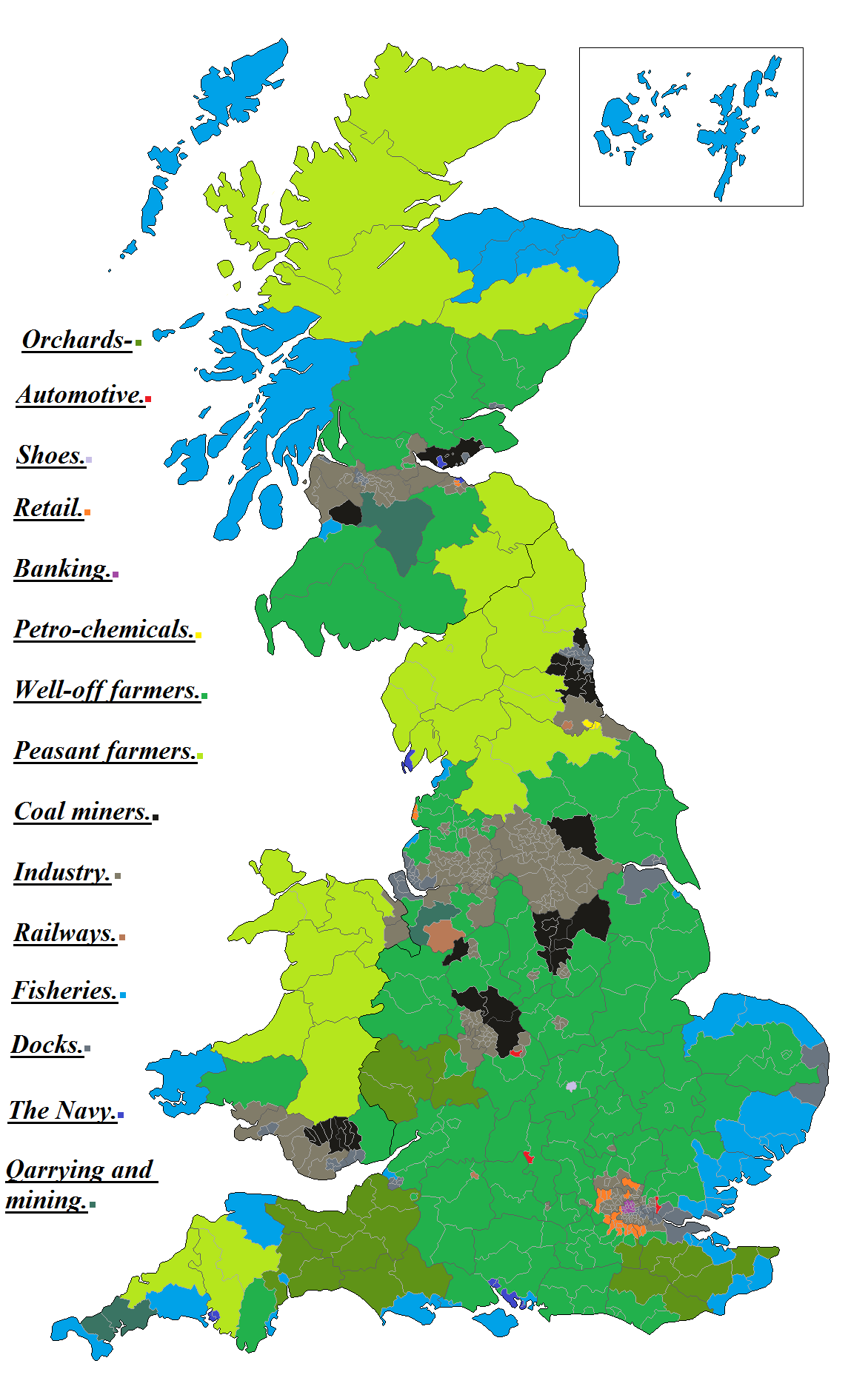 uk election 1950s industry type map 1png