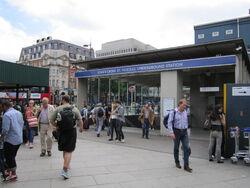 King's Cross St Pancras underground station entrance - IMG 0746