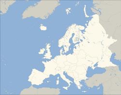 Europe polar stereographic Caucasus Urals boundary