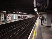 Euston Square tube station, Westbound platform - geograph.org.uk - 977128