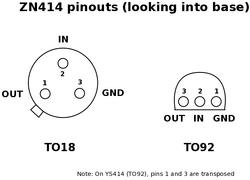 ZN414 Pinout