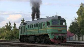 Запуск дизеля тепловоза М62-1244 M62-1244 awesome engine start