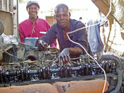 Auto mechanics class at Chawama Youth Resource Centre (5348624275)