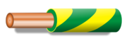 Color wire green yellow