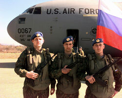 Russian paratroopers at Tuzla Air Base