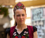 Hungarian woman in traditional dress