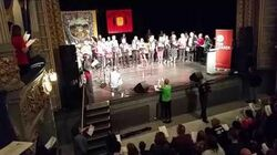 """Corbyn Rally in Newcastle ends with """"The Red flag"""" been sung by the packed out audience"""
