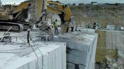 Irish Blue Limestone - 1000 Tons Versus 3 Caterpillars