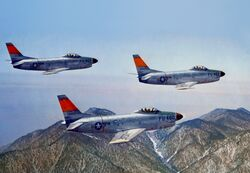 North American F-86D-1s USAF in flight