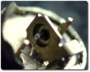 Inside Polish germanium transistor TG50