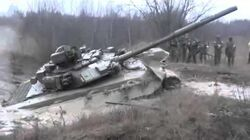 Tanks are not afraid of mud? Russian tank T 90 stuck in the mud Documentary video