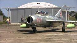Hungarian MiG-15 first post-restoration flight