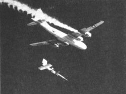 B-29 launches Lockheed X-7 c1957