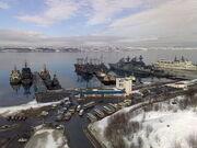 Стоянка кораблей. Североморск