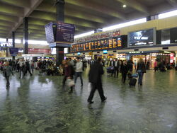 Euston main line station concourse