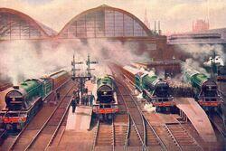 Morning rush from King's Cross (CJ Allen, Steel Highway, 1928)