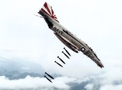 F-4B VF-111 dropping bombs on Vietnam