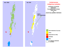 Andamanese comparative distribution