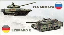 T-14 ARMATA (Russia) VS LEOPARD 2 (German-Nato) Tank Compare