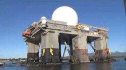 Sea-Based X-Band Radar (SBX-1) Enters Pearl Harbor