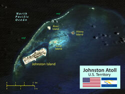 Johnston Atoll satellite map